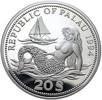 Palau Marine Life Protection 20$ – Silver Color Coin
